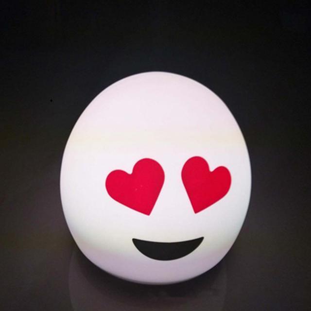 笑脸爱心硅胶灯