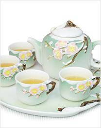 花饰陶瓷茶具